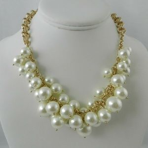 Charter Club Gold-Tone Shaky Faux Pearl   Necklace
